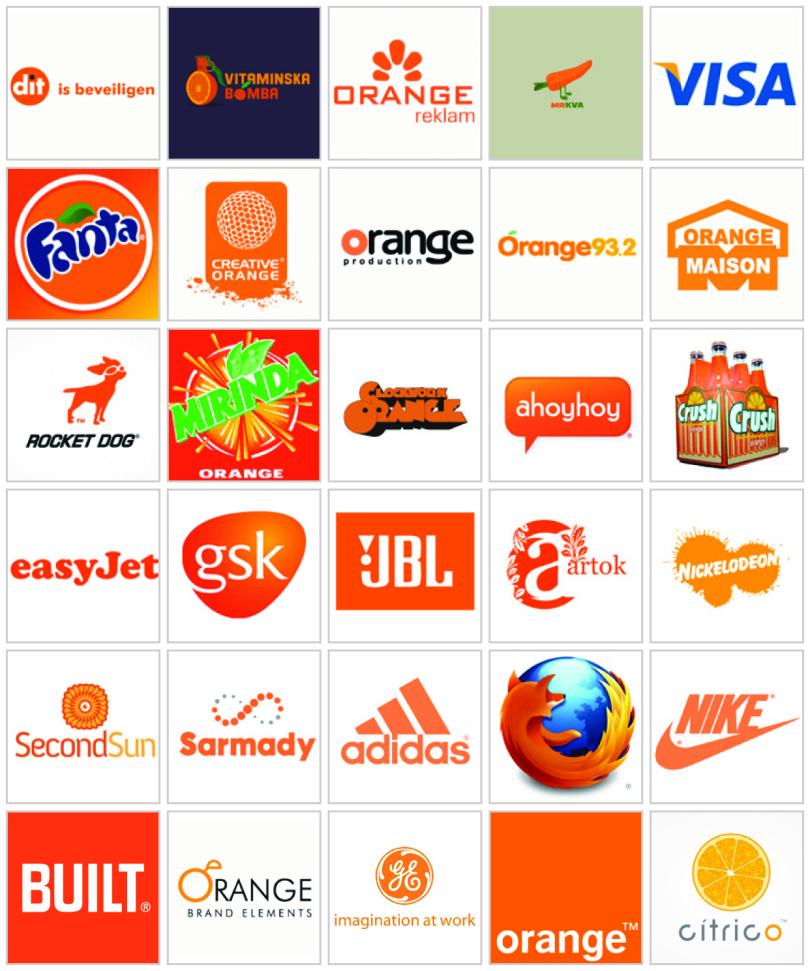 Các thương hiệu lớn Trên thế giới thiết kế logo màu cam